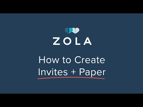 Zola | Beautiful Affordable Wedding Invites + Paper | How It Works