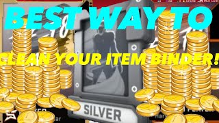 *EASY* COIN MAKING METHOD! BEST WAY TO CLEAN YOUR ITEM BINDER! | madden 20 ultimate team