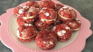 Red Velvet Crinkles with Cream Cheese Icing
