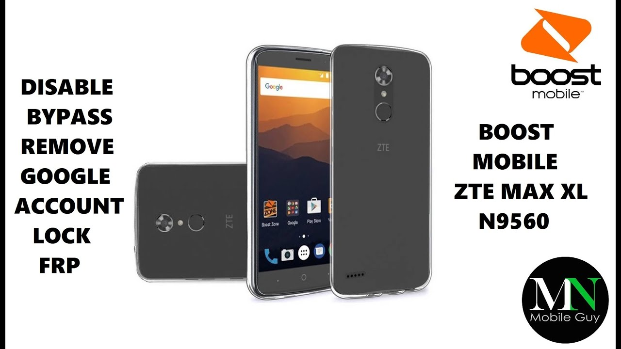 Disable Bypass Remove Google Account Lock Frp On Boost Mobile Zte