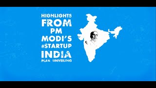 Highlights of #StartupIndia Plan by Narendra Modi Ji
