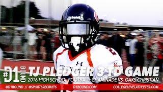 tj pledger 3 td game rb highlights chaminade vs oaks christian