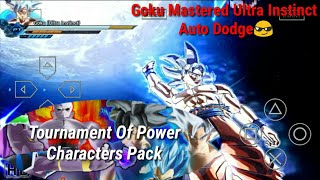 Dragon Ball TTT Full Mod Goku Mastered Ultra Instinct Auto Dodge+Tournament Of Power Characters