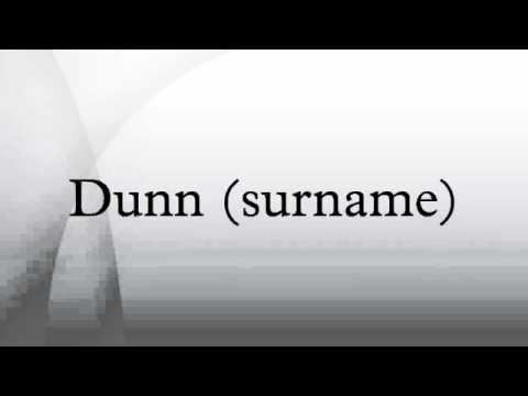 Dunn (surname)