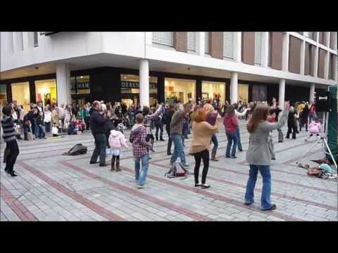 Exeter Flash Mob  Saturday Night Fever  29th Oct 2011