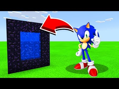 How To Make A Portal To SONIC In Minecaft Pocket Edition/MCPE