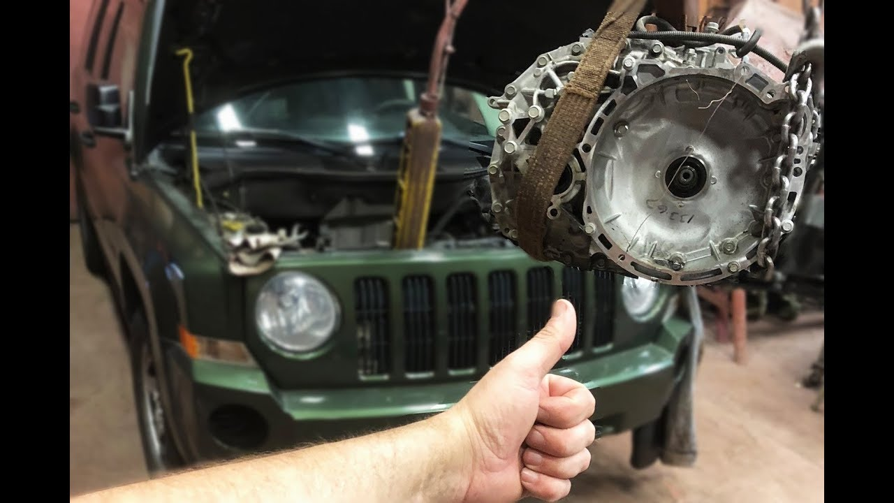transmission removal 2009 jeep patriot cvt automatic jf011e pt1 [ 1280 x 720 Pixel ]