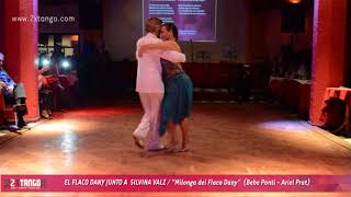 """""""Milonga del Flaco Dany"""" - bailan Flaco Dany y Silvina Valz"""