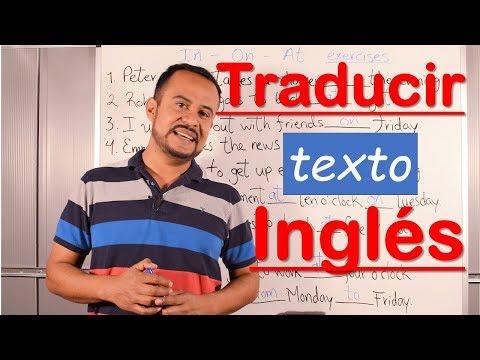 COMO TRADUCIR DEL INGLES AL ESPAÑOL FACIL Y RAPIDO