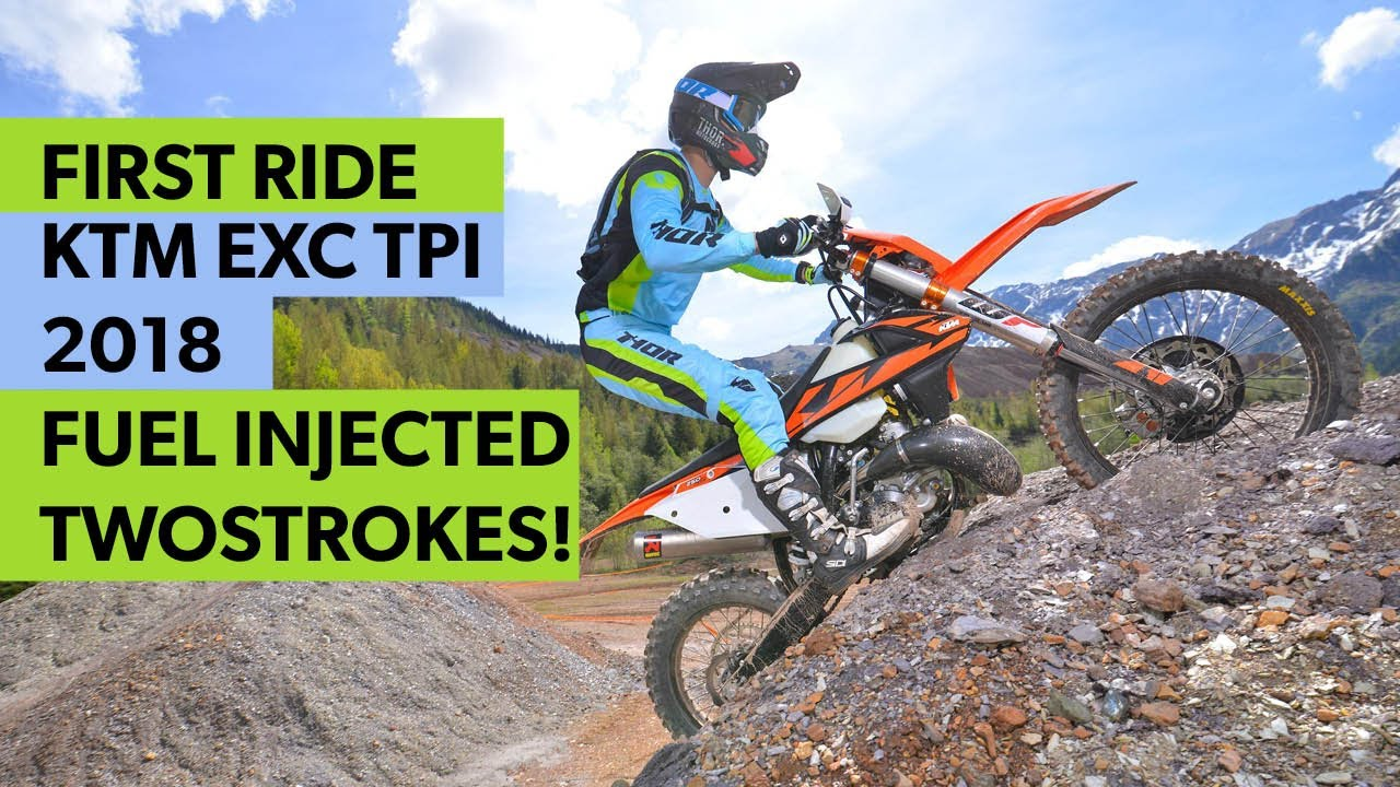 2018 ktm fuel injected. modren fuel first ride ktm exc tpi 2018 fuel injection launch at erzberg with ktm injected n