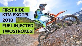 First Ride: KTM EXC TPI 2018 am Erzberg