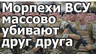 Срочно ! Морпехи Украины массово убивают друг друга