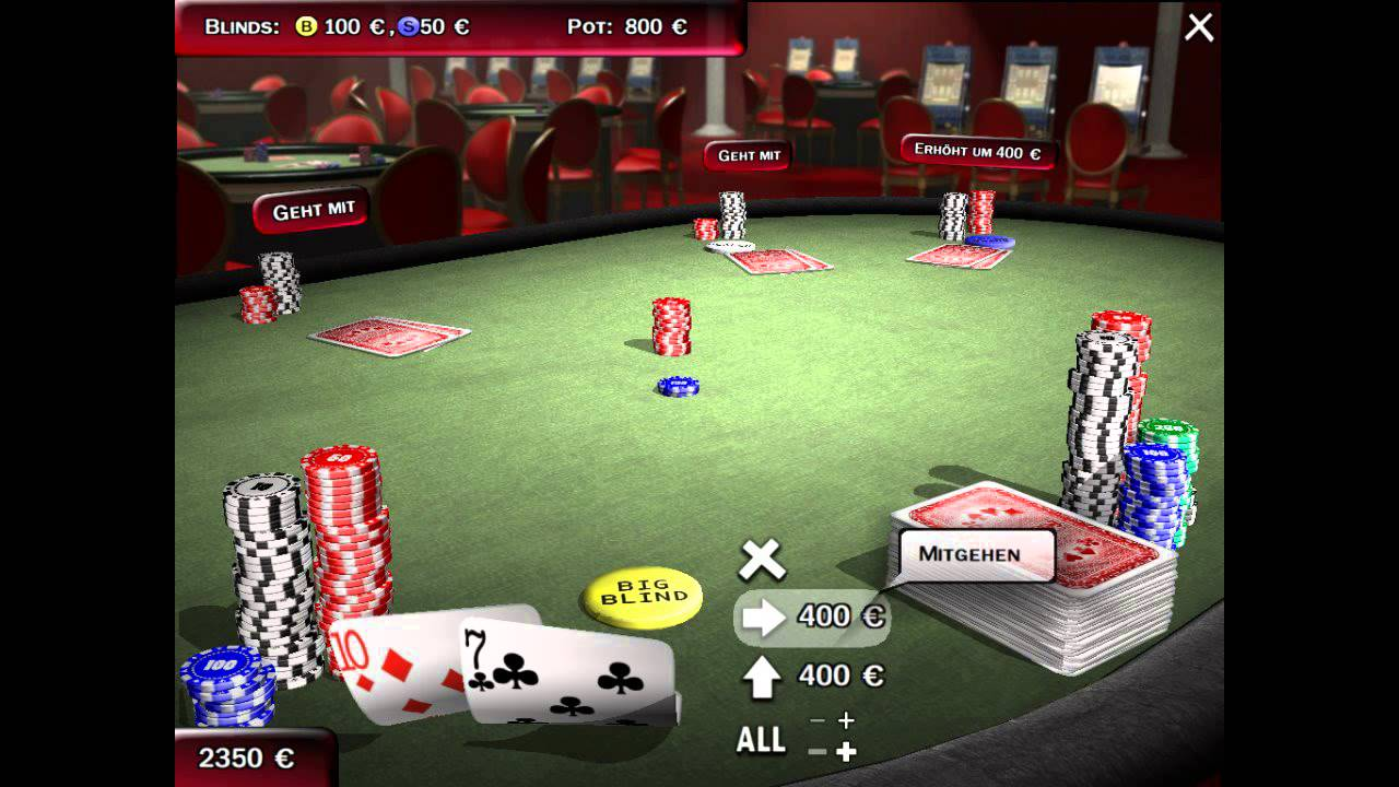 Texas Holdem Poker PC Game Match - YouTube