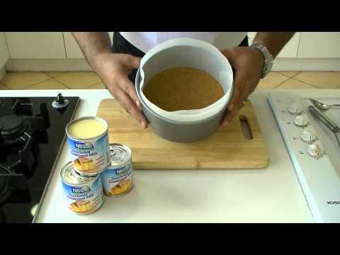 Nestlé Sweetened Condensed Milk - Strawberry Cheese Cake Recipe   وصفة كعكة الجبن بالفراولة