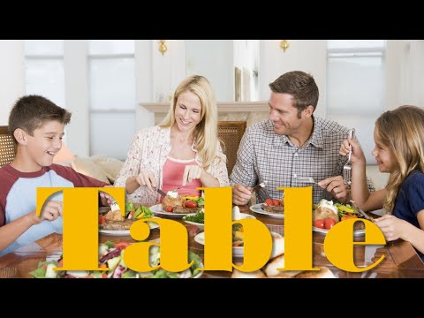 Who's at your table?  It's your Word for Wednesday!