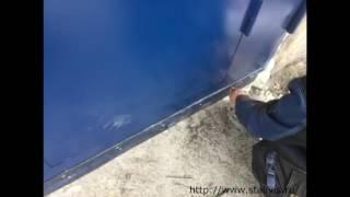 видео Металлические гаражные ворота