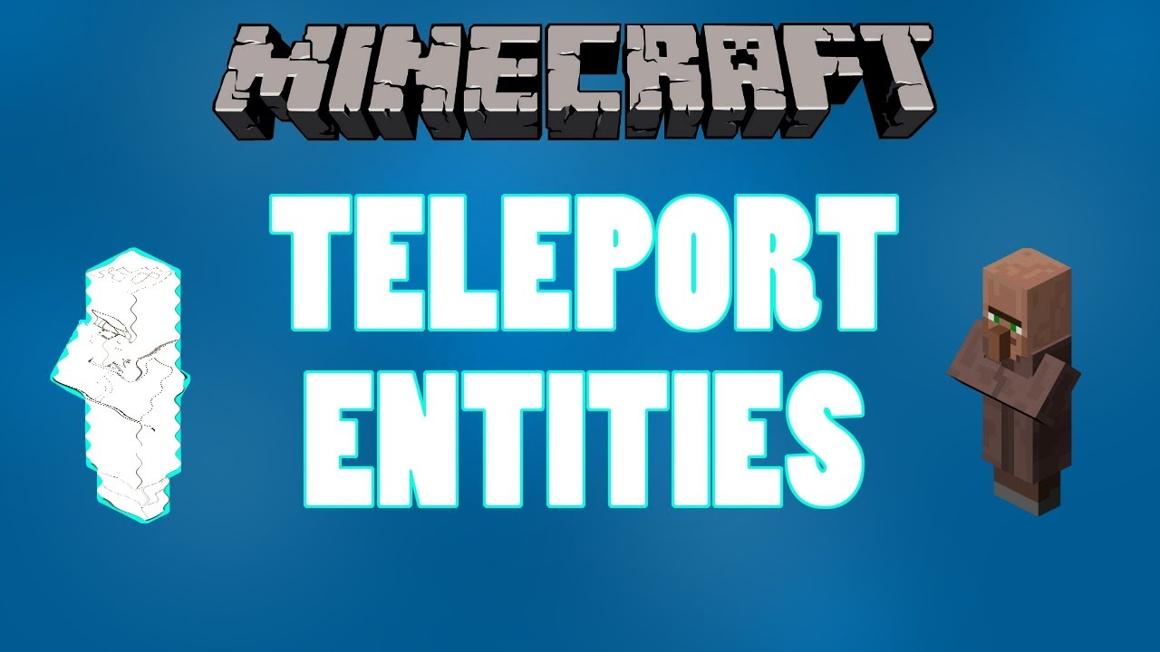 Minecraft Tutorial Teleport Villagers Other Entities YouTube - Minecraft teleport player to entity