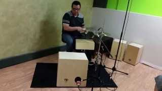 Cajon Bass Drum & Snare Demo#1