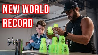 Barstool Sports Tries To Break the Cup Stacking World Record