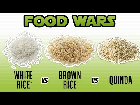 White Rice vs Brown Rice vs Quinoa Nutrition Facts (WHAT IS HEALTHIER) | LiveLeanTV