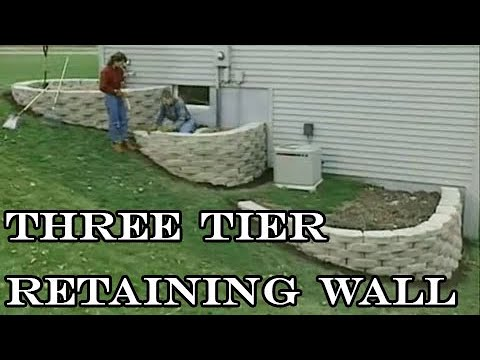 How to build a 3 tier retaining walls YouTube
