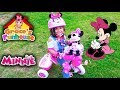 Minnie Mouse Bicycle Kids YouTube Toys Review & Toy Bloopers, Grace's 1st Bicycle Lessons