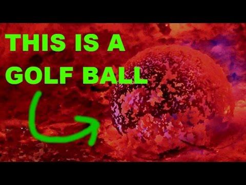 Golf Ball vs Furnace @1000Degrees Celsius