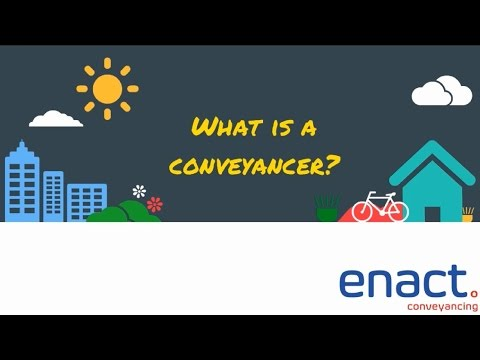 What is a conveyancer?