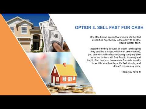 Selling My Inherited House Pueblo Colorado| 81004| We Buy Houses Pueblo| CO