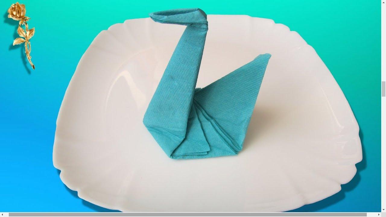 Origami Facile Cygne En Serviette
