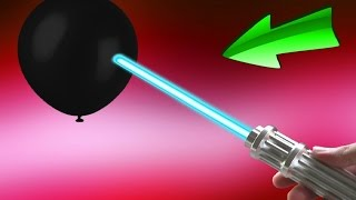 EXPERIMENT + UNBOXING Laser VS Schwarze Ballons