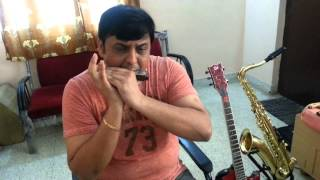 sj prasanna playing aur is dil mein on harmonica - 09243104505