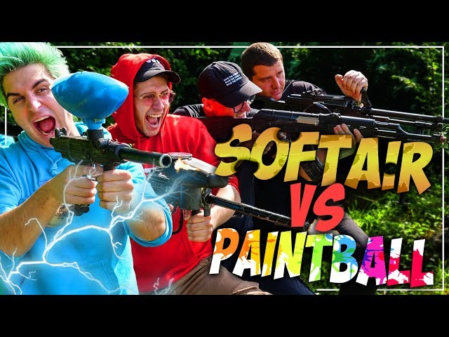 SOFTAIR VS PAINTBALL!! DISTRUGGERE UN ANGURIA CON I MATES!!