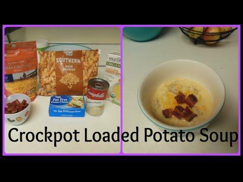 SUPER EASY Loaded Potato Soup | CROCKPOT RECIPIE!
