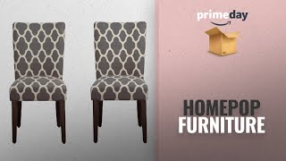 Save Big On Homepop Furniture Prime Day Deals: HomePop K6805-F2052 Parsons Classic Dining Chair, Set