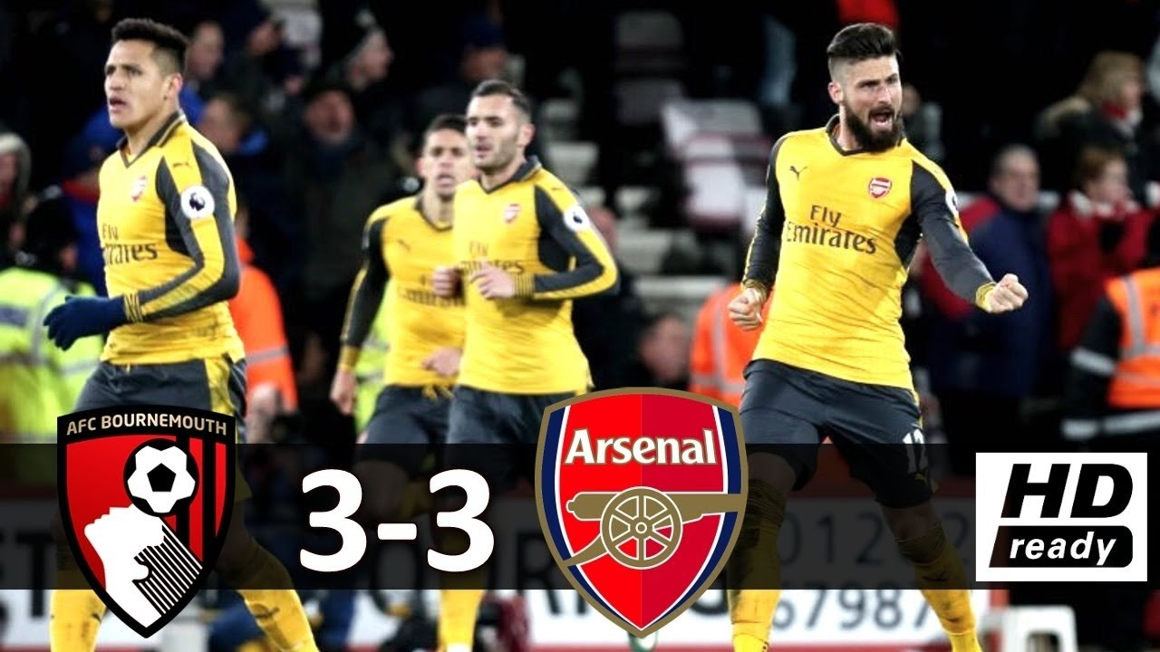 Download AFC Bournemouth vs Arsenal 3-3 All Goals & Extended Highlights HD ~ EPL 3/1/2017