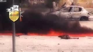 Война в Сирии, гибель танка с командой The war in Syria, the destruction of the tank with crew