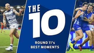 The 10 best moments | Round 11, 2018 | AFL