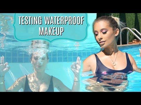 TESTING WATERPROOF MAKEUP IN MY POOL