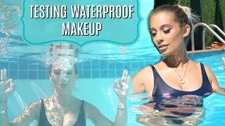 TESTING WATERPROOF MAKEUP IN MY POOL