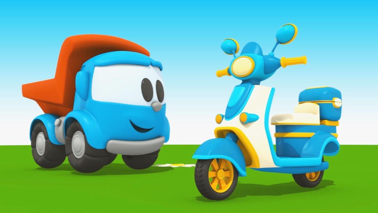 Cartoni animati per bambini camioncino leo junior e il