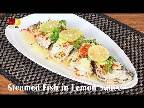 Steamed Fish In Lemon Sauce | Thai Food | Plakapong Nung Manao | ปลากะพงนึ่งมะนาว