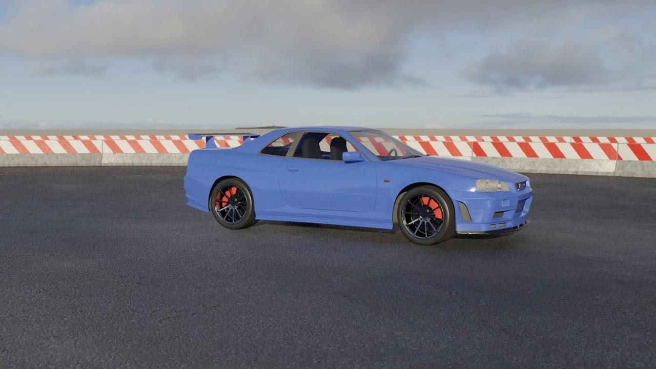 ArtStation - Car Animation using Blender Physics , Rumen