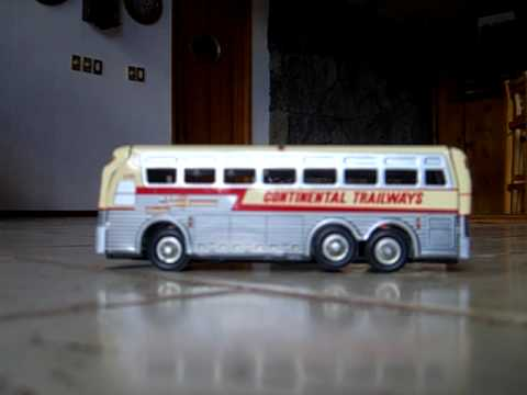TIN FRICTION JAPAN CONTINENTAL TRAILWAYS SILVER EAGLE BUS 7 IN