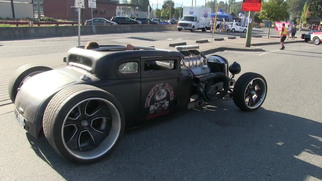 Bad ass Hot Rod spotted on the street,bad ass sound of rat rod ...