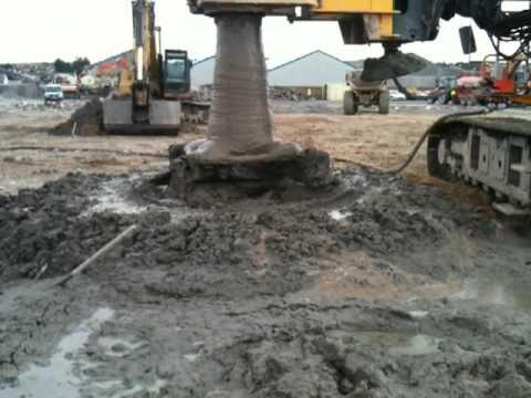 Deep Soil Mixing 2 0 M Diameter Columns 20 M Deep At