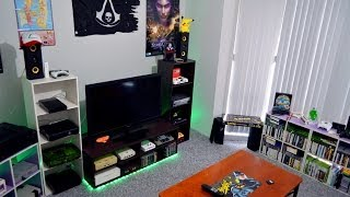 My Gaming Room Home Theater Setup Tour 10-6-14