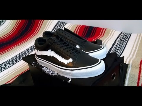 Vans Vault X Blends Old Skool Zip LX Black Bone Review 2014 Leather
