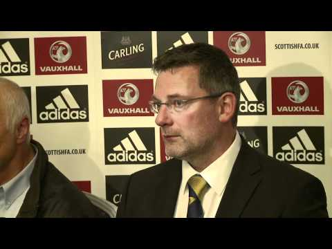 Craig Levein post Czech Republic match press conference