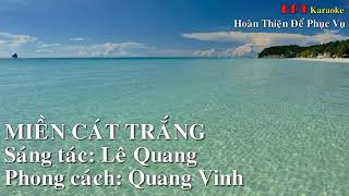 Miền cát trắng - Karaoke - Quang Vinh